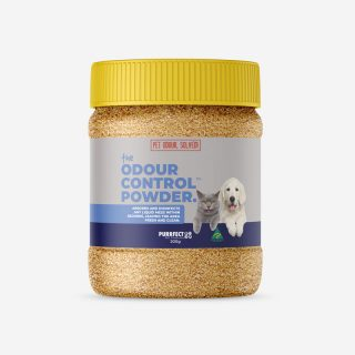 The Odour Control Powder Pet Odour Removal Cat and Dog Urine Pee Smell Remover Absorb Fluid Mess Kill Germs